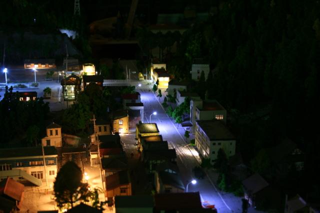 岩泉線ジオラマ夜景
