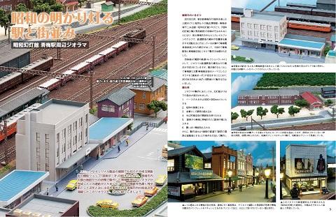 青梅駅周辺ジオラマ